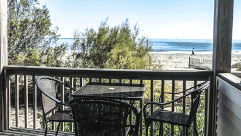 108A Tybee Lights Condo Tybee Island Oceanfront Cottage Rental