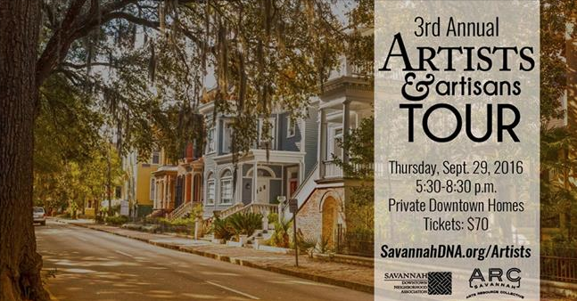 3rd Annual Artists and Artisans Tour of Savannah
