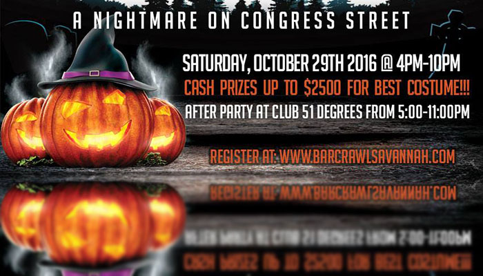 14. The Nightmare on Congress Street Charity Bar Crawl