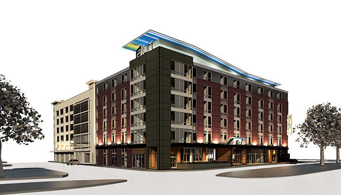 Aloft Savannah Hotel Rendering
