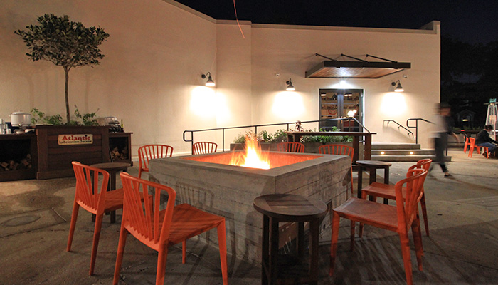 Atlantic Restaurant Outdoor Firepit
