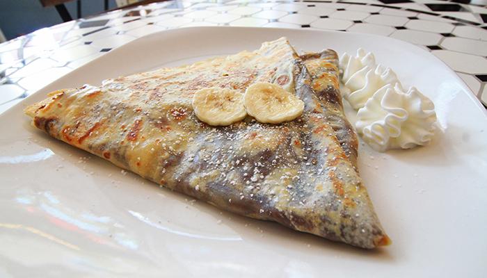 Banana and Nutella Crepe at Le Café Gourmet