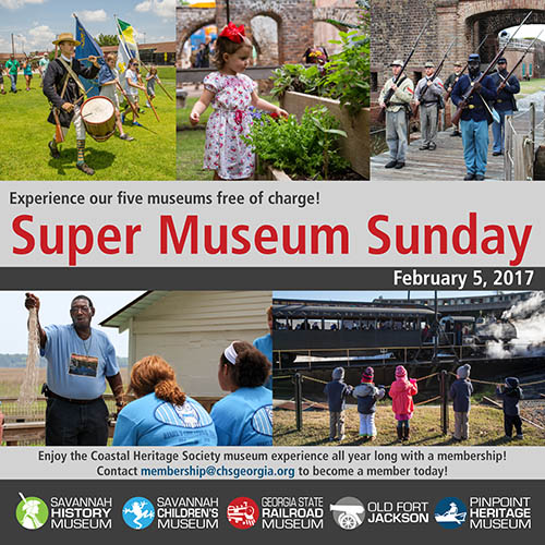 Coastal Heritage Society Super Museum Sunday 2017