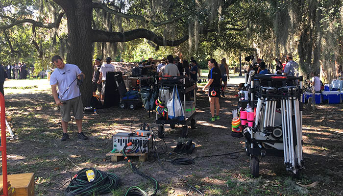 "Crew filming season 2 of ""Underground"" in Savannah"