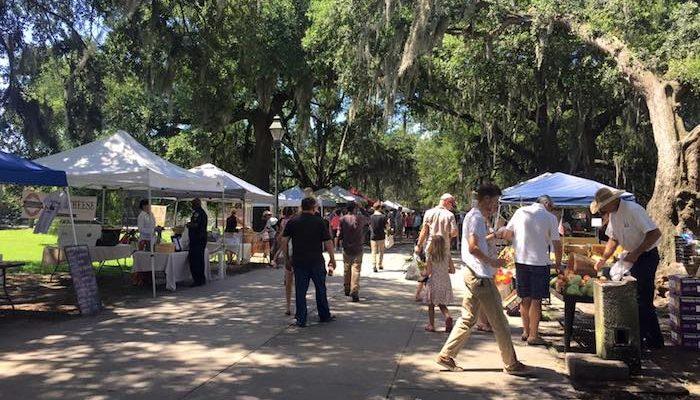 Forsyth Farmers' Market in Savannah