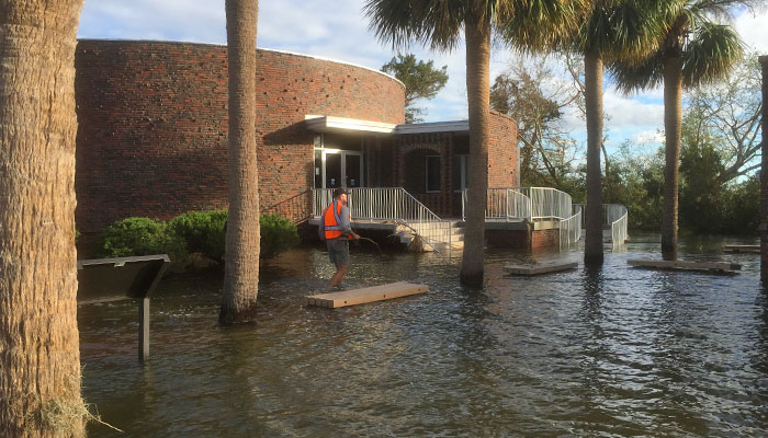 Fort Pulaski Flooding Hurricane Matthew