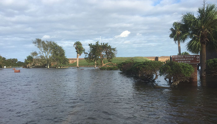 Fort Pulaski Hurricane Matthew Flooding