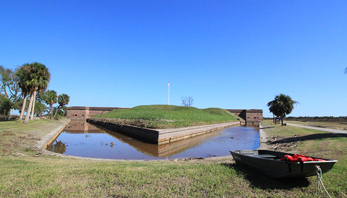 Fort Pulaski after Hurricane Matthew