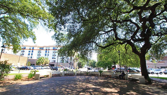 Franklin Square in Savannah