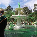 Greening of the Forsyth Fountain in Savannah Georgia
