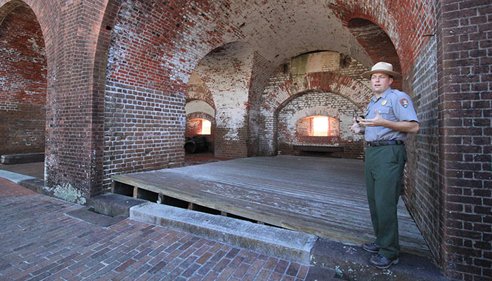 Hurricane Matthew damage to Fort Pulaski