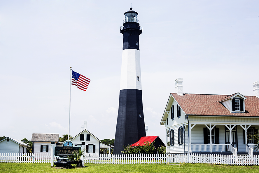 Tybee Island North Beach Lighthouse
