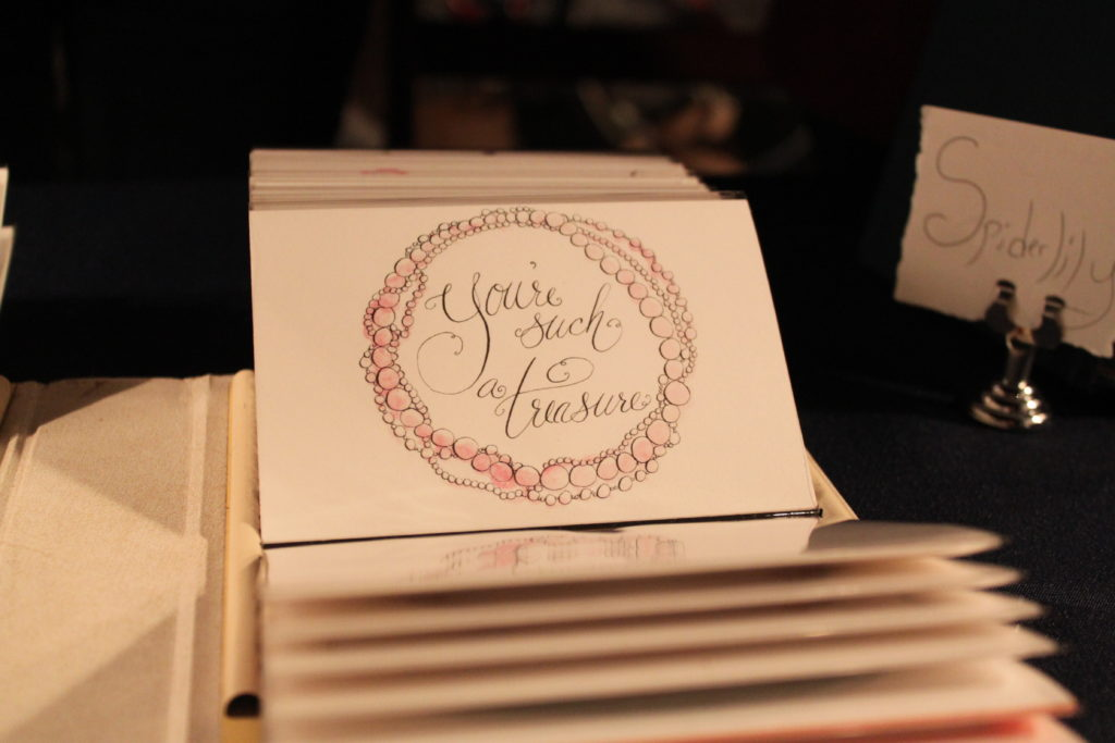 Illustrator Kaitlin Slattery sold several of cards from Forever September.