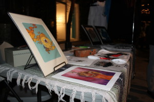 Shoppers and art enthusiasts can find paintings and illustrations all throughout the Indie Arts March.