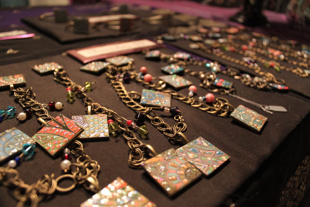 Shelly Kohli's bracelets were on sale at the Art March on February 7.