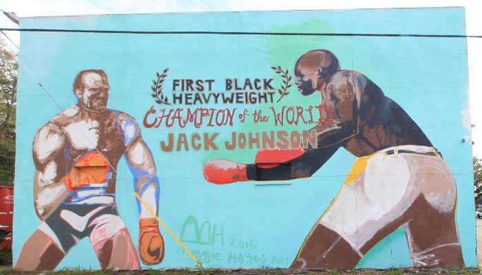 Jack Johnson Mural Savannah
