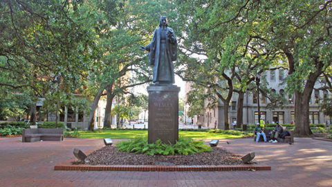 John Wesley Statue in Reynolds Square