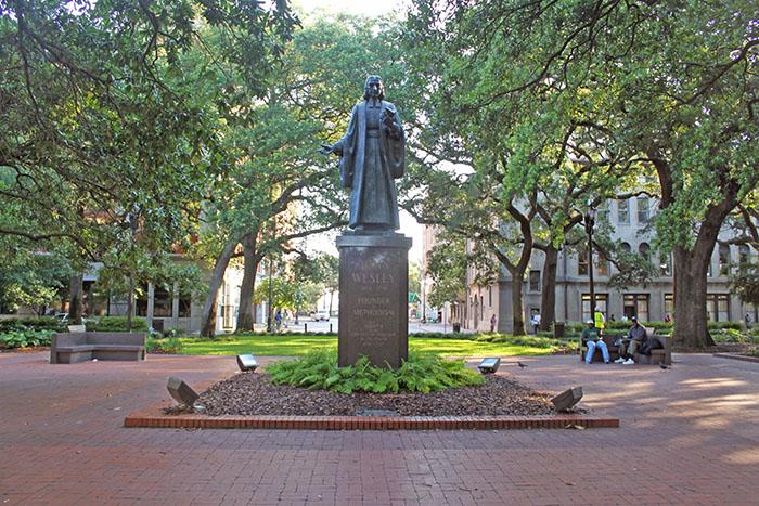 John Wesley Statue in Reynolds Square