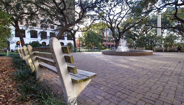 Johnson Square in Savannah GA