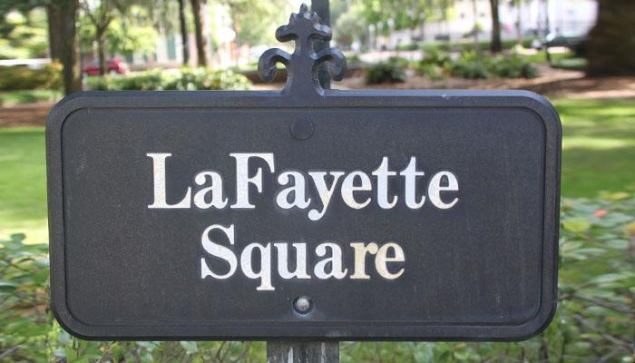 LaFayette Square sign