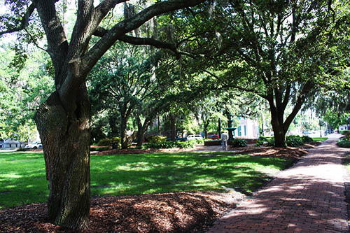 Lafayette Square path in Savannah GA