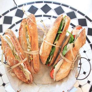 Le Café Gourmet baguette sandwiches
