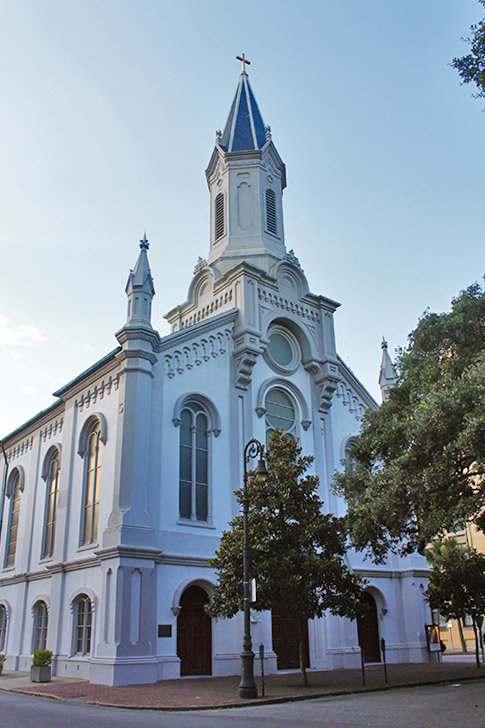 Lutheran Church of the Ascension in Savannah on Wright Square