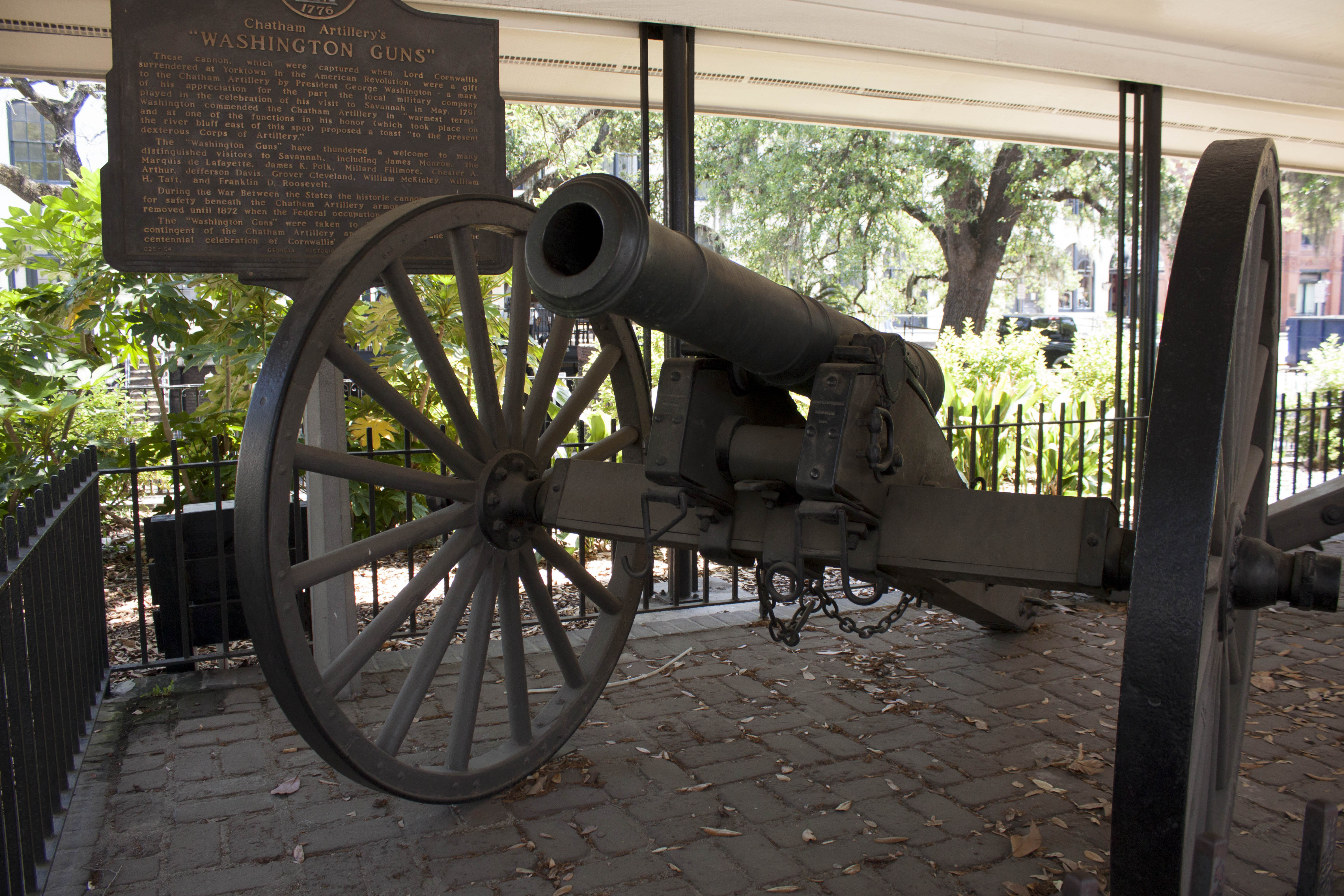 Savannah's Historic Monuments on River Street