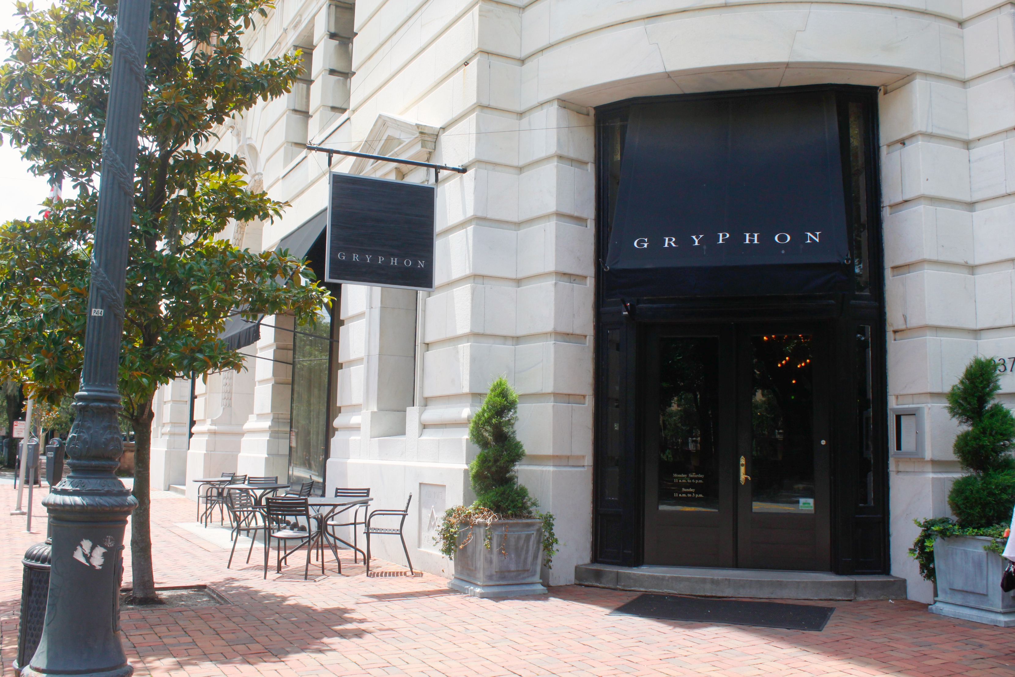 Gryphon Tea Room Bull Street Savannah Ga