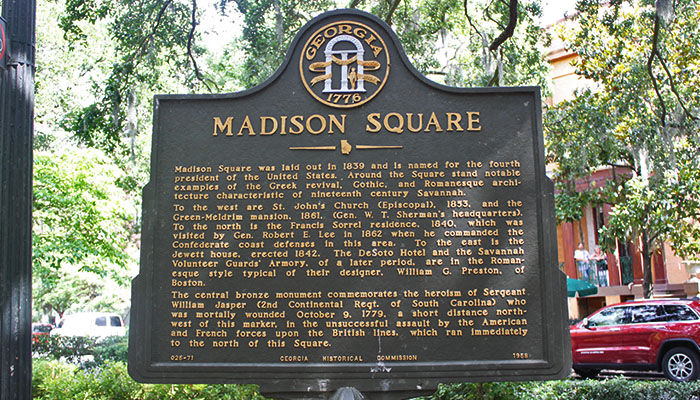 Madison Square Historical Marker