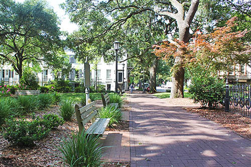 Monterey Square in Savannah GA