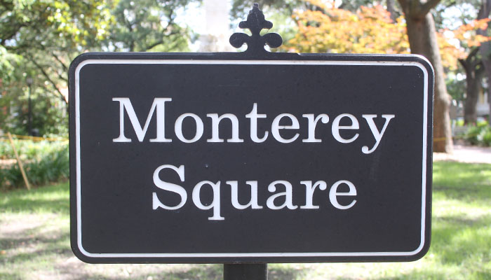 Monterey Square sign