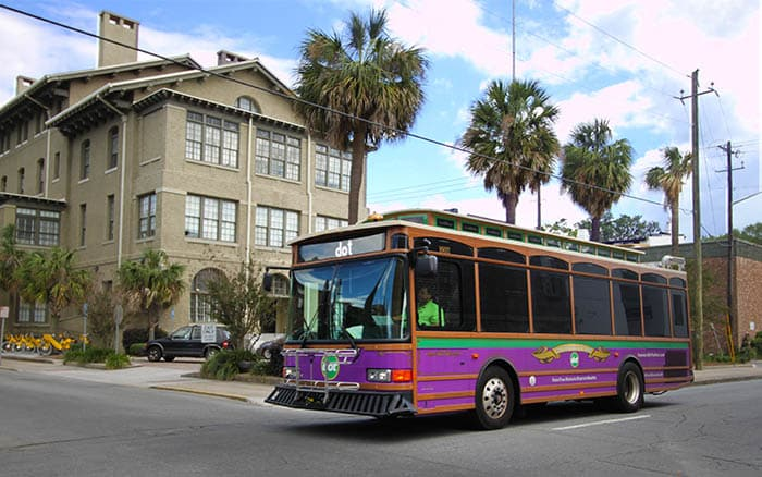 New 2017 DOT trolley shuttle in Savannah