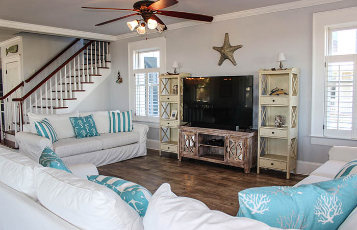 Oceanfront Cottage Rentals_7 Palmwood_Tybee Island Vacation Rental Living Room