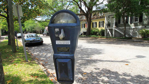 Old Savannah Georgia parking meter