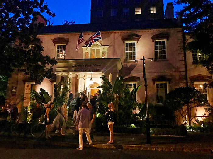 The Olde Pink House hosts one five famous Savannah spirits