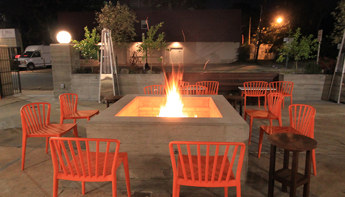 Outdoor Firepit at Atlantic Restaurant in Savannah