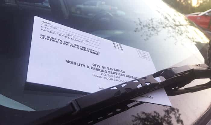 Parking Ticket in Savannah GA