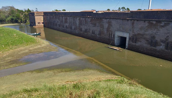 Post Hurricane Matthew Flooding at Fort Pulaski