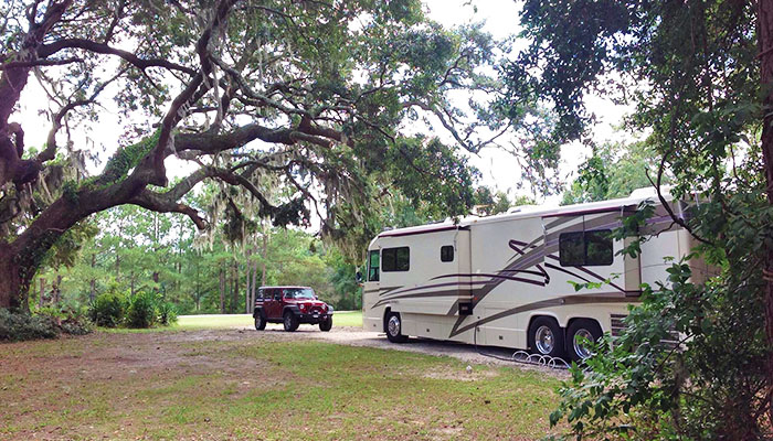 Red Gate RV Park in Savannah Georgia