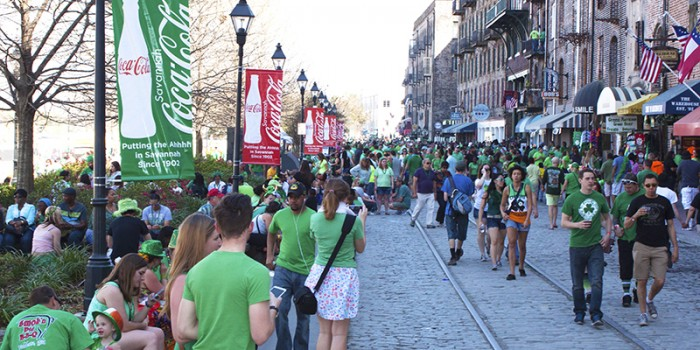 River Street Savannah St Patricks Day