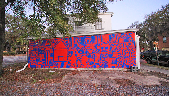 SAFE Lee O'Neil Gallery Mural Savannah