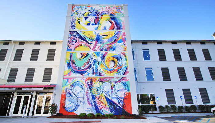 SCAD Montgomery Hall Mural in Savannah