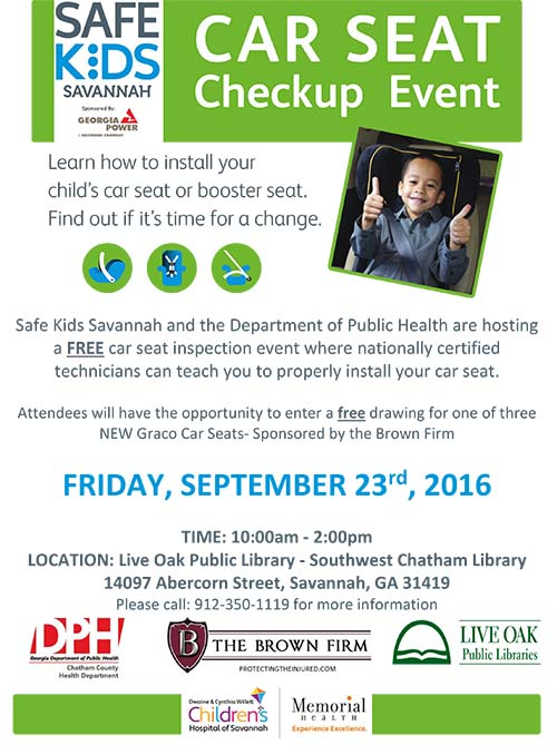 Safe Kids Savannah Car Seat Checkup Event