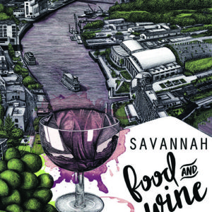Savannah 2016 Food and Wine Festival poster