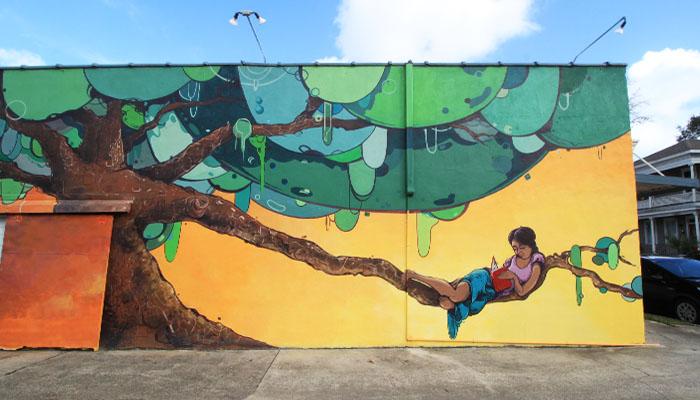 Savannah 40 Space Mural