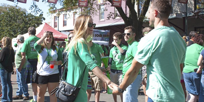Savannah City Market St Patrick's Day