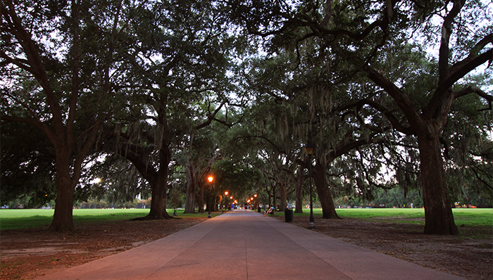Savannah Evening in One of America's Most Haunted Cities