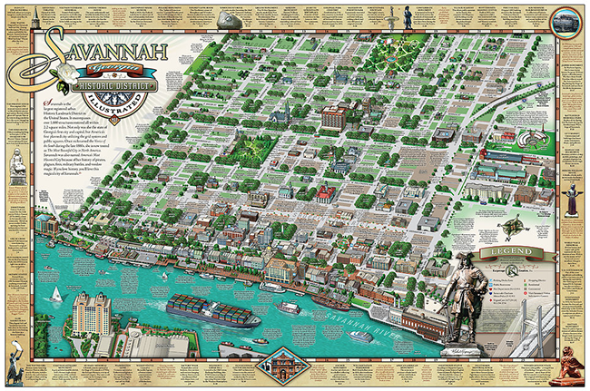 Historic Sites of Savannah Savannah GA – Georgia Tourist Map