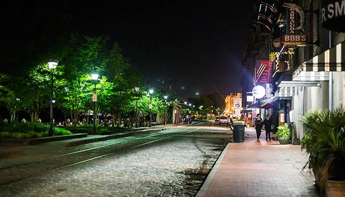 Savannah River Street at Night
